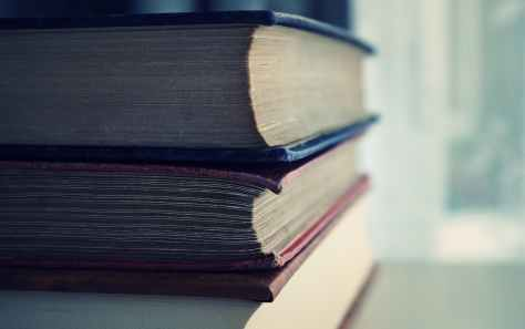 red and blue books