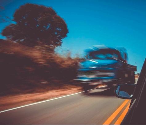asphalt blue sky blur car
